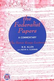 The Federalist Papers: A Commentary