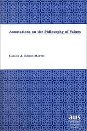 Cover of: Annotations on the philosophy of values