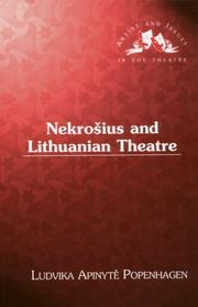 Cover of: Nekrošius and Lithuanian theatre | Ludvika Apinyte Popenhagen