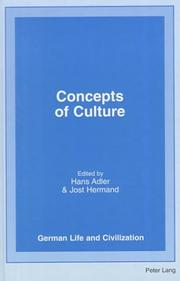 Cover of: Concepts of culture |
