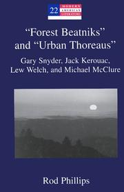 "Cover of: ""Forest Beatniks"" and ""Urban Thoreaus"": Gary Snyder, Jack Kerouac, Lew Welch, and Michael McClure"