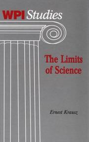 Cover of: limits of science | Krausz, Ernest.