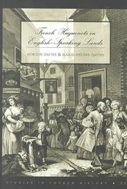 Cover of: French Huguenots in English-speaking lands | Horton Davies