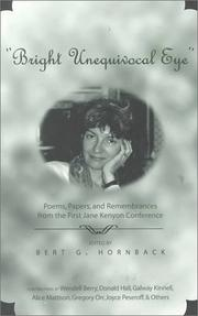 "Cover of: ""Bright unequivocal eye"""