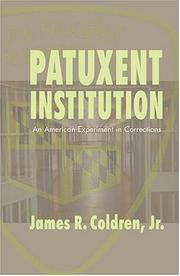 Cover of: Patuxent Institution | James R. Coldren