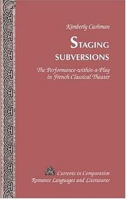 Cover of: Staging subversions | Kimberly Cashman