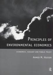Cover of: Principles of Environmental Economics
