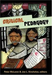 Cover of: Critical pedagogy