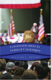 Cover of: Communication in Political Campaigns (Frontiers in Political Communication)