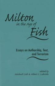 Cover of: Milton in the age of Fish