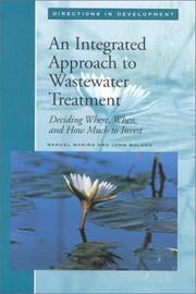 Cover of: An integrated approach to wastewater treatment