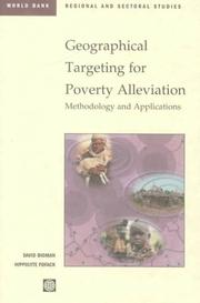 Cover of: Geographical Targeting for Poverty Alleviation |