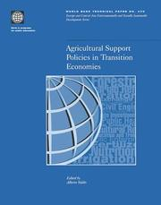 Cover of: Agricultural Support Policies in Transition (World Bank Technical Paper)