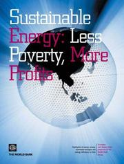 Cover of: Sustainable Energy