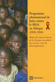 Cover of: The Africa Multi-Country AIDS Program 2000-2006 (French)