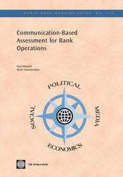 Cover of: Communication-based Assessment for Bank Operations (World Bank Working Papers) (World Bank Working Papers) | Paul Mitchell