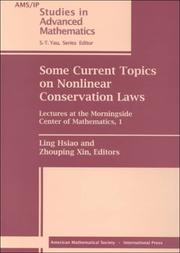 Cover of: Some Current Topics on Nonlinear Conservation Laws |