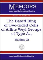 Cover of: The Based Ring of Two-Sided Cells of Affine Weyl Groups of Type $\widetilde{A}_{n-1}$