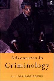 Cover of: Adventures in criminology