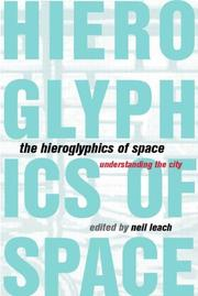 Cover of: The Hieroglyphics of Space