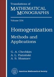 Homogenization (Translations of Mathematical Monographs) by G. A. Chechkin, A. L. Piatnitski, A. S. Shamaev