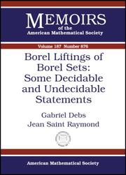 Borel Liftings of Borel Sets by Gabriel Debs, Jean Saint Raymond
