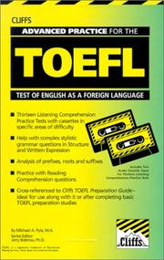 Cover of: Advanced Practice for the Toefl