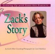 Cover of: Zack's story: growing up with same-sex parents