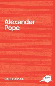 Cover of: Alexander Pope | Paul Baines