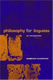 Cover of: Philosophy for linguists