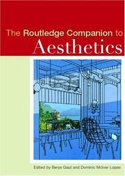 Cover of: The Routledge Companion to Aesthetics (Routledge Companions to Philosophy)