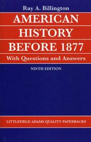 Cover of: American History before 1877 with Questions and Answers (Helix Book)