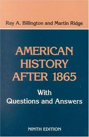 Cover of: American history after 1865
