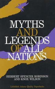 Cover of: Myths and legends of all nations