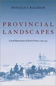 Cover of: Provincial Landscapes | Donald J. Raleigh