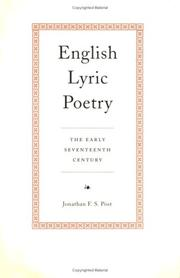 Cover of: English Lyric Poetry | Jonathan Post