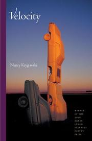 Cover of: Velocity (Pitt Poetry Series) | Nancy Krygowski
