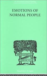 Cover of: Emotions of Normal People