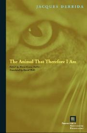 Cover of: The Animal That Therefore I Am (Perspectives in Continental Philosophy)