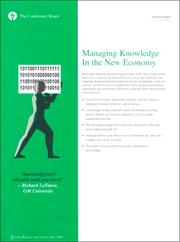 Cover of: Managing Knowledge in the New Economy | Don Cohen