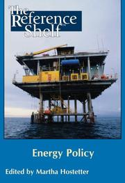 Cover of: Energy Policy (Reference Shelf) | Martha Hostetter