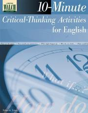 Cover of: 10-minute Critical-thinking Activities For English:grades 10-12