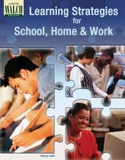 Cover of: Learning Strategies For School, Home, And Work