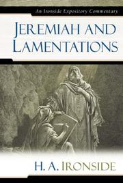 Cover of: Jeremiah and Lamentations