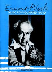 Cover of: Music for Violin and Piano