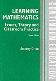 Cover of: Learning Mathematics | Anthony Orton