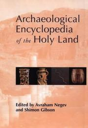 Cover of: Archaeological encyclopedia of the Holy Land