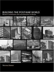Cover of: Building the Post-War World (Textbook)