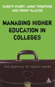 Managing higher education in colleges by