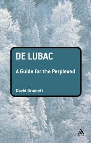 Cover of: De Lubac | David Grumett